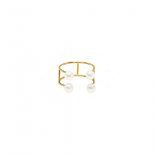 Double Baby Pearl Ring | Open Band