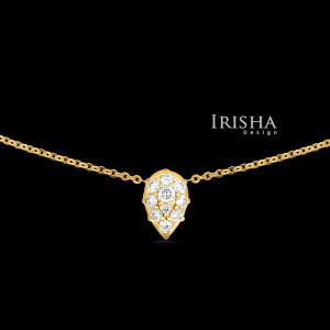 Diamond Pear Necklace