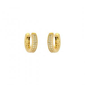 Double Layer Diamond Ear Cuff 14k Gold