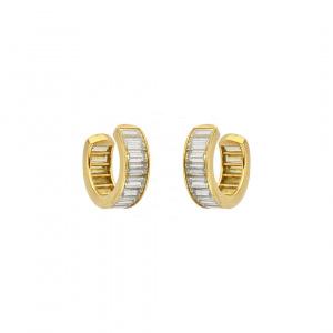 Diamond Baguette Ear Cuff 14k Gold