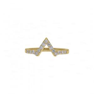 Wedding Ring Guard 14k Gold, Diamond
